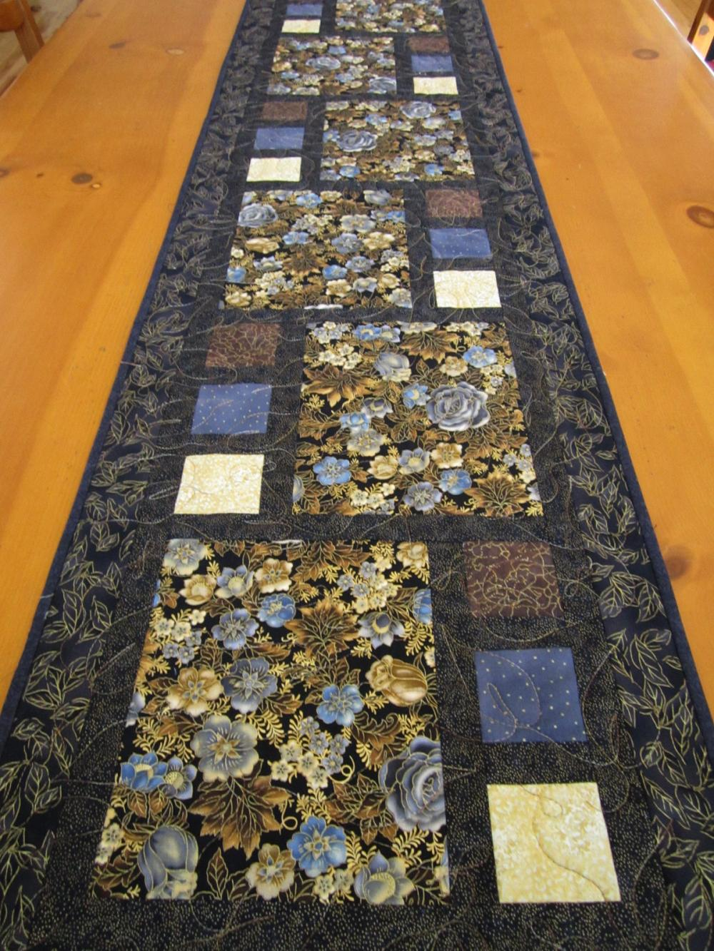 Floral Beauty Quilted Table Runner